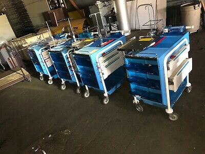 Metro Lifeline Code Response Crash Cart Hospital Medical Procedure Cabinet Stand