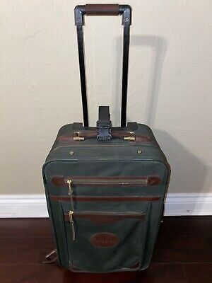 ORVIS Vintage Battenkill Carry On Rolling Luggage Travel Canvas Sport Fishing