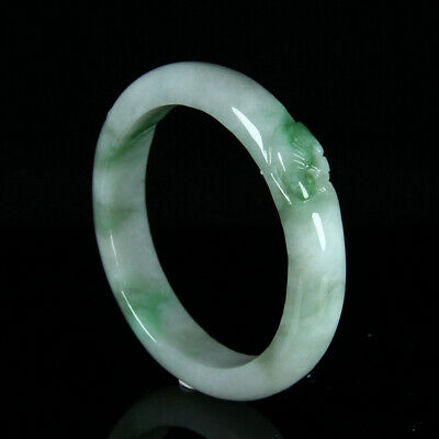 Chinese Exquisite Hand carved jadeite jade bangle 56mm