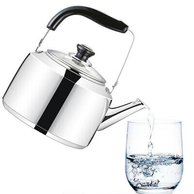 Flat Bottom Stovetop Whistling Tea Kettle Teapot Large Capacity Stainless Steel
