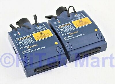 Set of Two Fluke DTX-SFM2 Singlemode Fiber Module