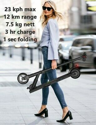 TEEN or ADULT Electric Scooter 14mph, 8 mile range, 250w, 15° climb, UKEU Stock