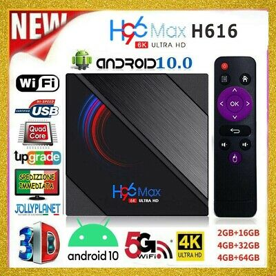 TV BOX H96 MAX RK3318 2/4GB + 16/32/64GB ANDROID 9.0 4K WIFI Quad Core A7M8