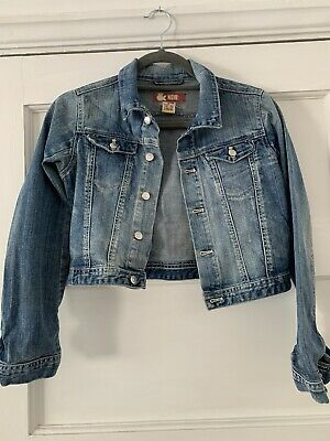 Girls Cropped Distressed  Denim Jean Jacket 146cm 11-12yrs