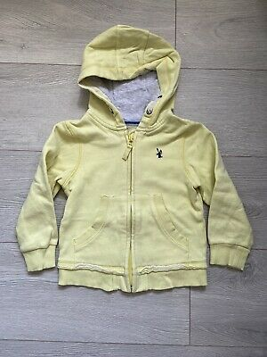 Next Girls Yellow Lemon Hoodie Age 2-3 Years