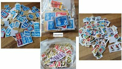 700+ UK Franked 1st Class, 2nd Class, Large Letter, Christmas & Others Stamps