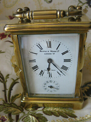 Antique Brass Carriage Clock With Alarm Sold By Mappin & Webb