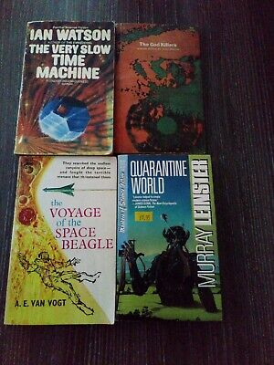 4 Vintage Science Fiction Books