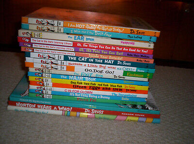 NICE Lot of 19 Dr. Seuss Bright & Early Beginner Books--HORTON THIDWICK MOOSE