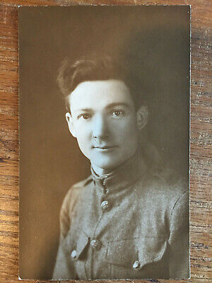 WWI Postcard, Named Medical Corps Soldier