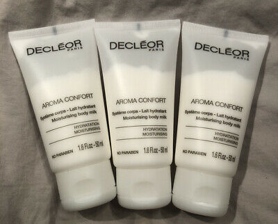 Brand New Decleor Aroma Confort Moisturising Body Milk 50ml Travel Sizes x 3