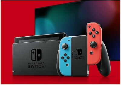 V2 2019 Nintendo Switch Console - Neon Blue and Red Joy‑Con. Brand new in box.