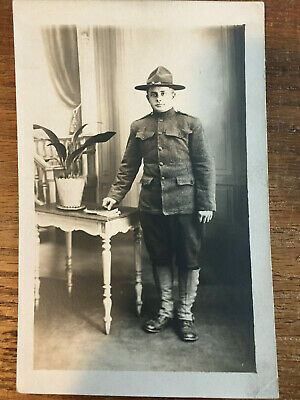WWI Named Photo of American Soldier, Railway Engineers