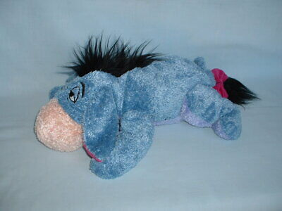 WINNIE THE POOH Large EEYORE DONKEY Cuddly Soft Beanie Plush Toy (DISNEY STORE)