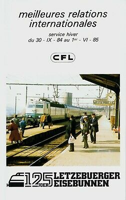 Luxembourg CFL Train Timetable  September 30, 1984 =