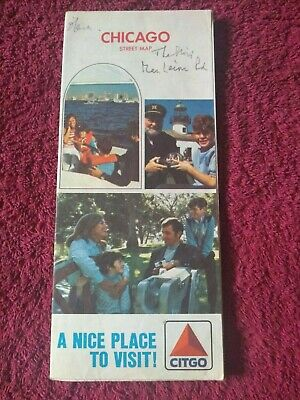 """Vintage 1973 Citgo Chicago Illinois City Street Map - """"A nice place to go"""""""
