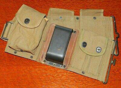 Original Military Us Ww1 Bar Assault Magazine Pouch Belt 1918 Dated Unissued