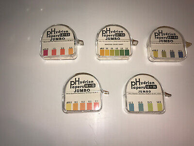 PHydroin PH papers Hydrion Short Range Set Lot of 5