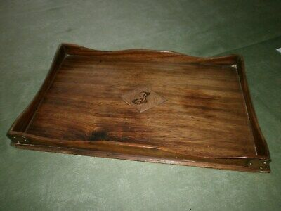 Antique Olive Wood Tray, with inlay.