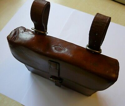 Viscount's Antique Victorian saddle canteen with flask & sandwich tin. J Dixon