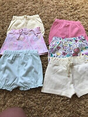 Bundle Of Baby Girls Shorts Aged 3-6 Months