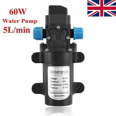 12V 115PSI 60/ High Pressure Diaphragm Self Priming Water Pump Caravan Wash