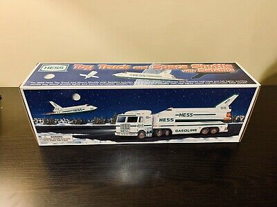 1999 HESS Toy Truck and Space Shuttle with Satellite, Never Removed From Box!