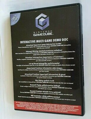 INTERACTIVE MULTI-GAME DEMO DISC July 2004 Nintendo Gamecube With case & manual