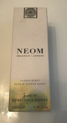 Neom Organics London Boost Your Energy Bath & Shower Drops 100ml, New