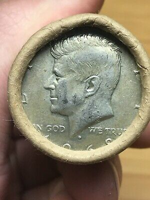 1 Roll 40% Silver Kennedy Half Dollars Original Bank Roll 20 Coins Unsearched