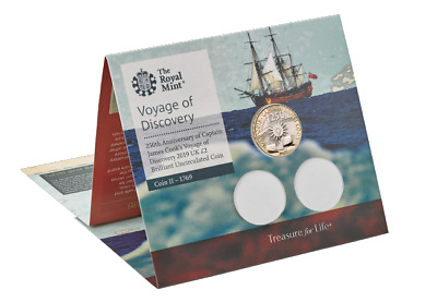 Captain James Cook Voyage 2019 BU £2 Two Pound Coin Sealed Unopened Pack