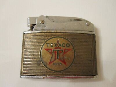Vintage TEXACO Chrome LIGHTER Made in Japan HADSON Service Station Gas & Oil