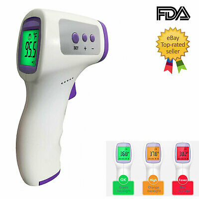 Non-Contact Thermometer Forehead Infrared Body Thermometer No-Touch Thermometer FDA Approved,Same-Day Shipping Cut-Off time of 2pm PST
