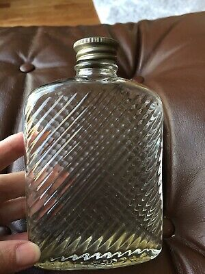 Vintage Unusual Glass Flask