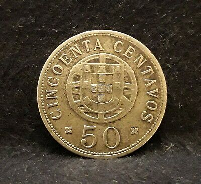 1928 Portuguese Angola (Colony) 50 centavos, KM-69 (AN5)