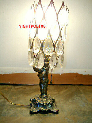 Crystal Lamp, Cherub, Angel, Vintage
