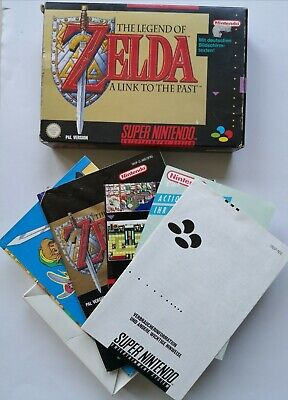 Zelda SNES Box inklusive Poster, inserts and more - RARE & OLD