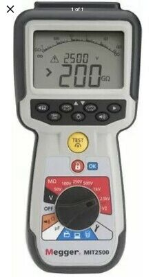 MEGGER Insulation Tester,Digital/Analog LCD, MIT2500