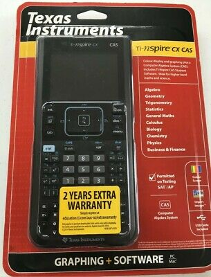 Texas TI-Nspire CX CAS Calculator Colour Handheld Graphing Maths Scientific NEW
