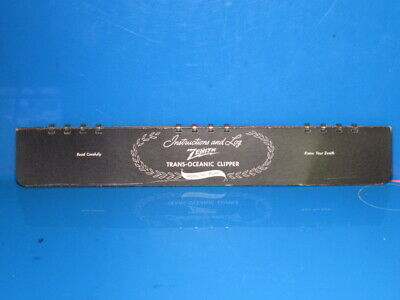 Zenith Radio Parts  Transoceanic Model 8Goo5 Log Book