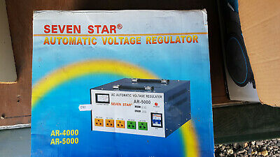 NEW Seven Star AC Automatic Voltage Regulator AR-5000  - 5000 Watts Boxed