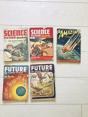 Vintqge Science Fiction Magazines X 5