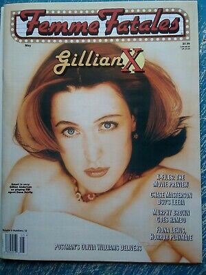 X-Files Gillian Anderson Femme Fatales Magazine May 1998 Brand New Unread!!