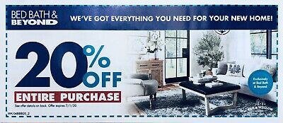 BBB 20% OFF Bed Bath & Beyond, Expires July 1, 2020 - Fast Email