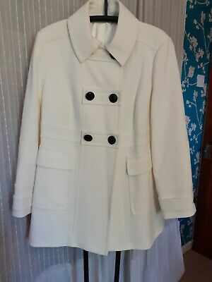 M&S  Ladies Size 18 Cream Jacket Coat