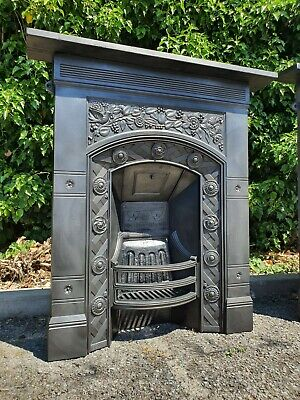 Antique Victorian Cast Iron Thomas Jeckyll Fireplace Old combination