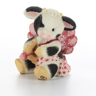 Marys Moo Moos Enesco Cow Figurine Valentines Day Moosenger Of Love 159409 Box