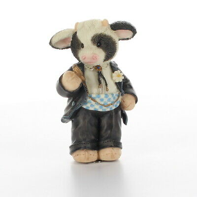 Marys Moo Moos Enesco Collectible Resin' Figurine Wedding Best Bull 167525 Box