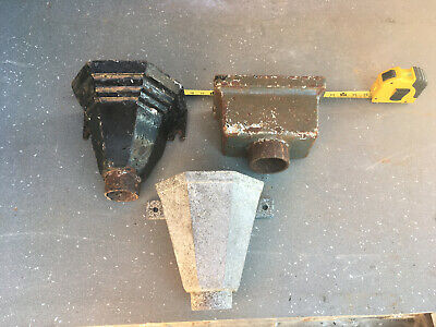Job Lot 2 X Cast Iron Gutter Guttering Hoppers Planters 1 Alloy Galvanised Type