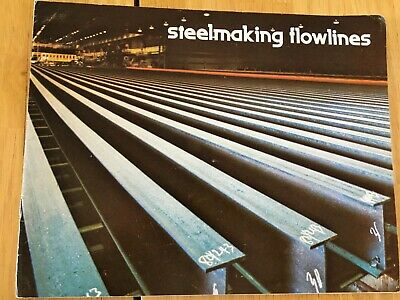 Vintage Steelmaking Brochure Booklet 1980's? Steel Processing Pictorials 8 Pages